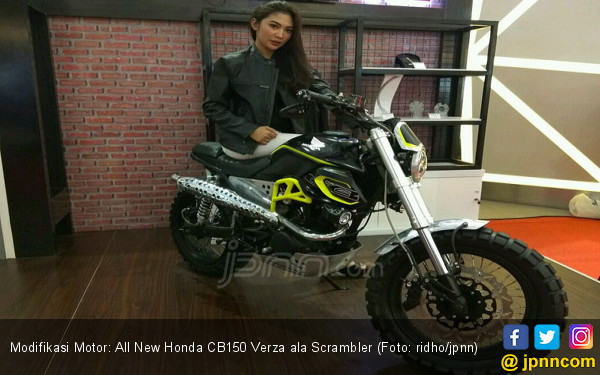 Modifikasi Motor: All New Honda CB150 Verza ala Scrambler - JPNN.COM