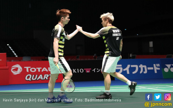Marcus / Kevin Tembus Perempat Final French Open - JPNN.COM