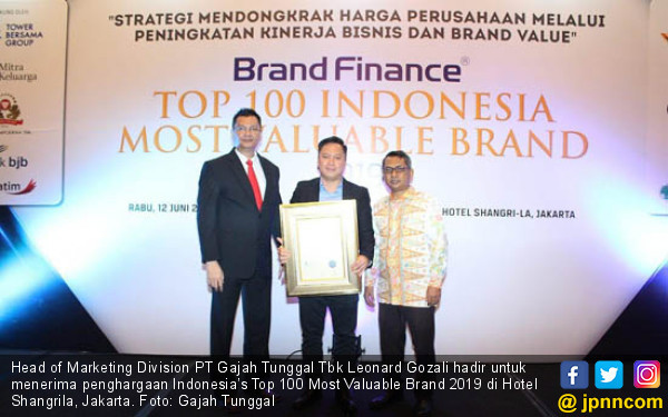 Gajah Tunggal Sabet Indonesia's Most Valuable Brand 2019