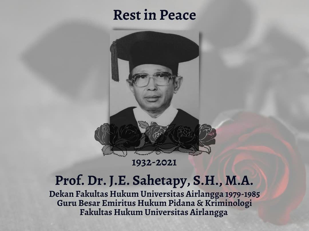 Innalillahi, Guru Besar FH Unair Prof Sahetapy Meninggal Dunia - JPNN.com