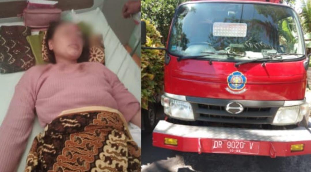 Emak-Emak Naik Vario Hantam Mobil Pemadam Kebakaran, Ngeri! - JPNN.com