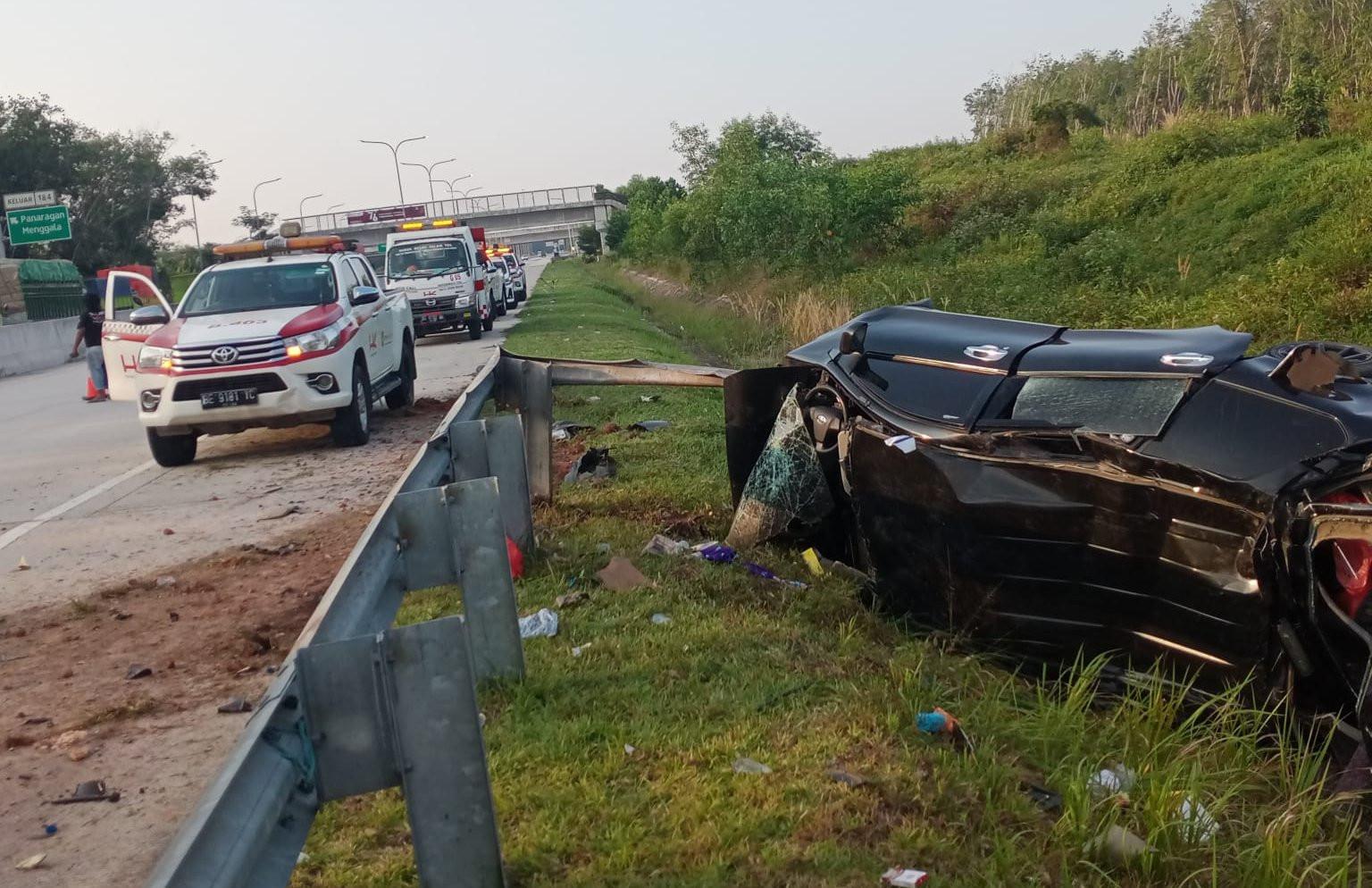 Kecelakaan Tunggal di Tol Trans Sumatera, 4 Orang Tewas, Begini Kondisinya - JPNN.com