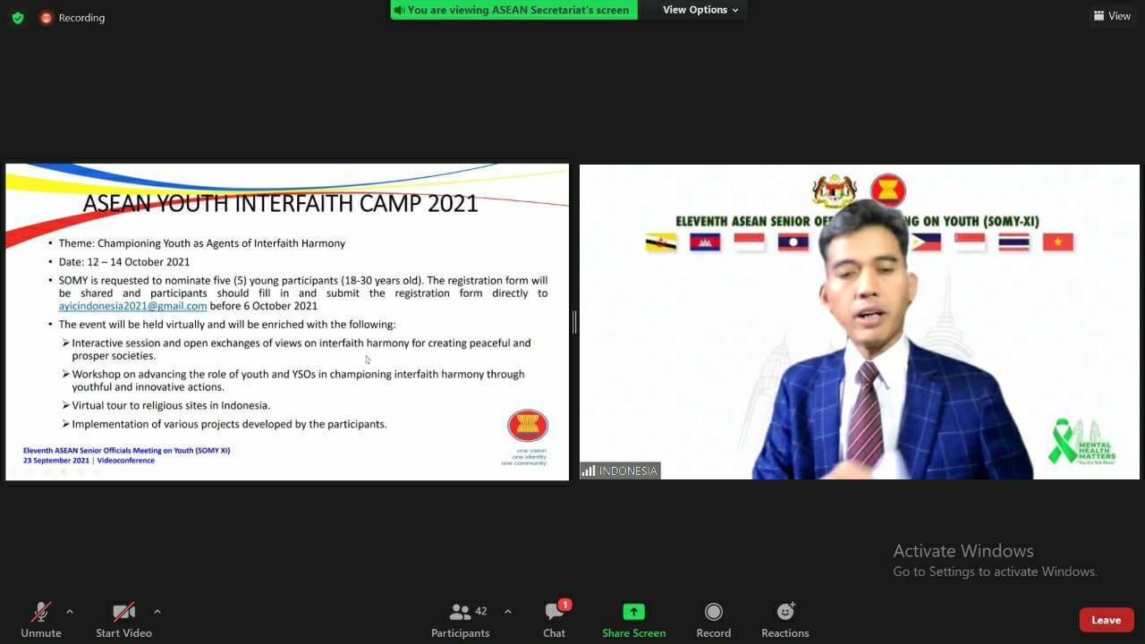 Kemenpora Hadiri Acara SOMY ke-11 dan SOMY+3 ke-10 Secara Daring - JPNN.com