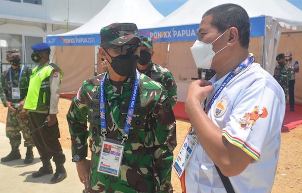 Mayjen Ignatius Cek Kesiapan Pengamanan Venue PON XX Papua - JPNN.com
