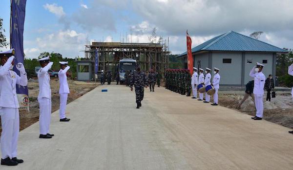Detik-detik KSAL Resmikan Pusat Latihan Tempur Marinir TNI AL - JPNN.com