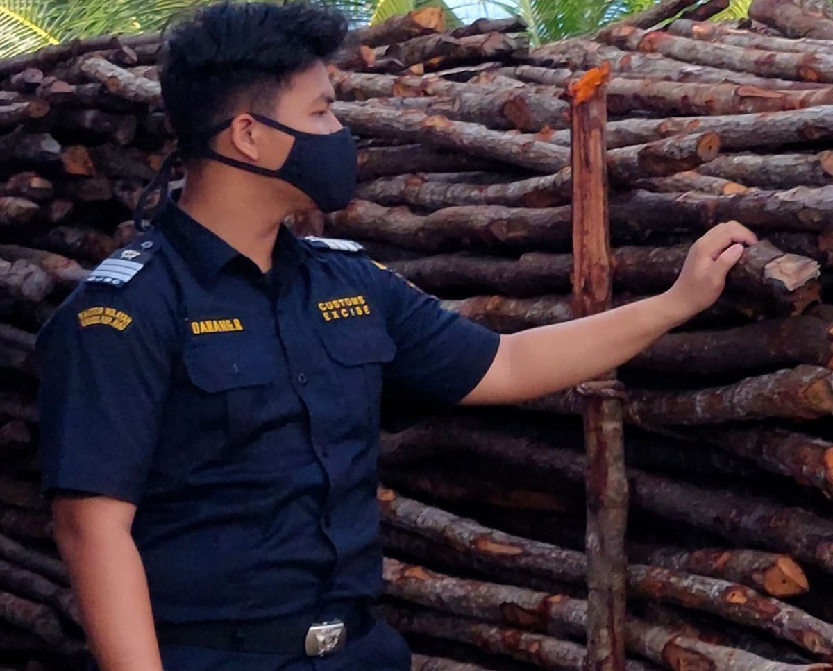 Bea Cukai Kepri Gagalkan Penyelundupan 6.472 Kayu Teki ke Malaysia - JPNN.com