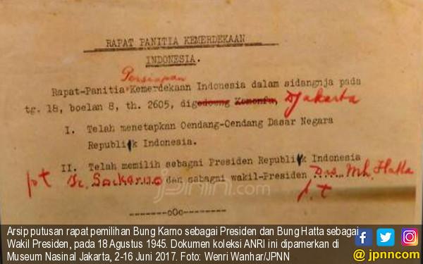 Bagaimana Cerita Pemilihan Presiden Pertama Indonesia? - JPNN.COM
