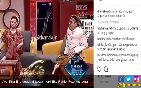 Intip Kain Eko Patrio, Ayu Ting Ting Diserang Lagi - JPNN.COM
