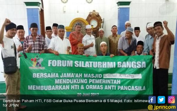 Bersihkan Paham HTI, FSB Gelar Buka Puasa Bersama di 5 Masjid - JPNN.COM