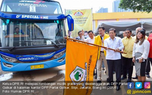 Ketua DPR Lepas Rombongan Mudik Gratis Partai Golkar - JPNN.COM