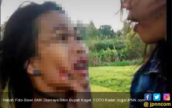 Heboh Foto Siswi SMK Dianiaya Bikin Bupati Kaget - JPNN.COM