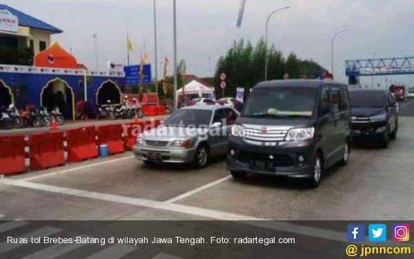 Arus Mudik, Jumlah Kendaraan Keluar dari GT Brebes Barat Diperkirakan Berkurang - JPNN.com