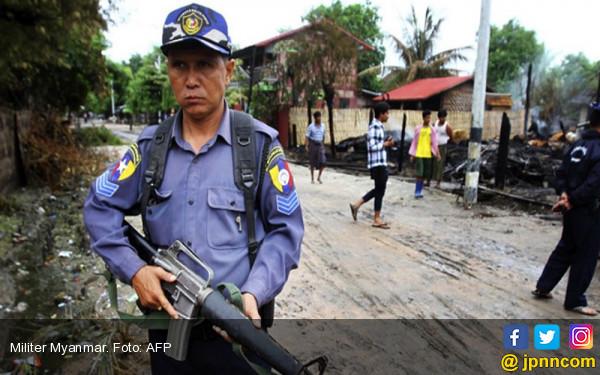 Militer Myanmar Bersikeras Tak Membantai Rohingya - JPNN.COM