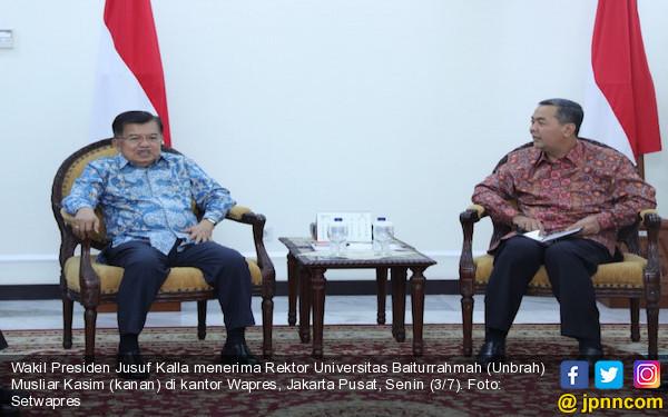 Tiga Permintaan Rektor Unbrah ke Wapres JK - JPNN.COM