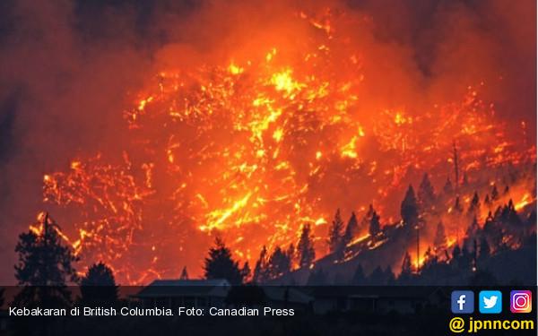 Kebakaran Lahan Besar, British Columbia Darurat - JPNN.com