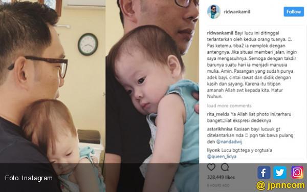 Mengharukan, Kang Emil Ingin Asuh Bayi Telantar yang Lucu Ini.... - JPNN.com