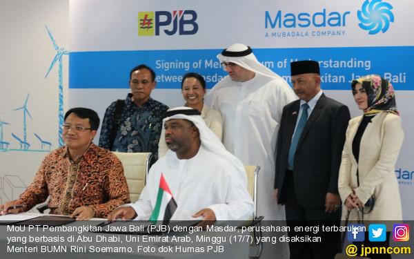 Gandeng PJB, Masdar Ingin Kembangkan Potensi Energi Terbarukan di Indonesia - JPNN.COM