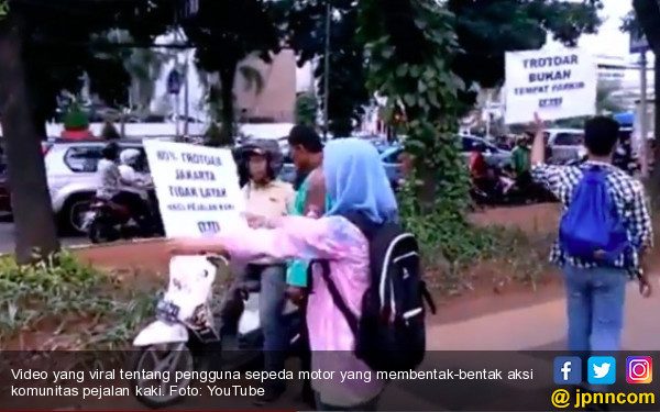 Polisi Akan Bertindak Tegas ke Pengguna Motor Perambah Trotoar - JPNN.COM