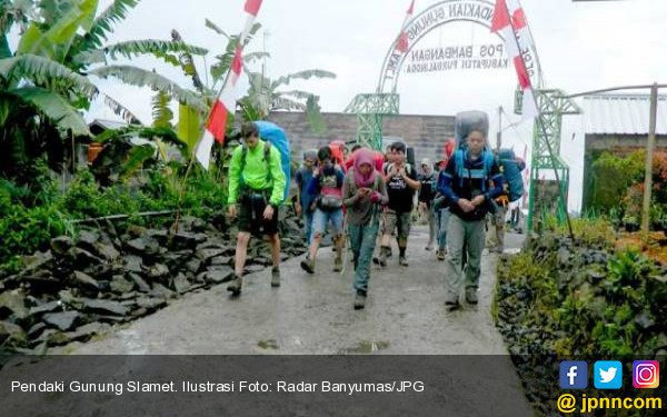 Empat Pendaki Gunung Slamet Dilaporkan Hilang - JPNN.COM