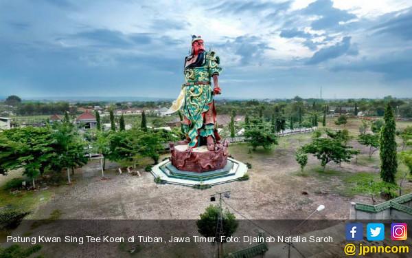 Polisi Selidiki Penyebab Runtuhnya Patung Dewa di Tuban - JPNN.com