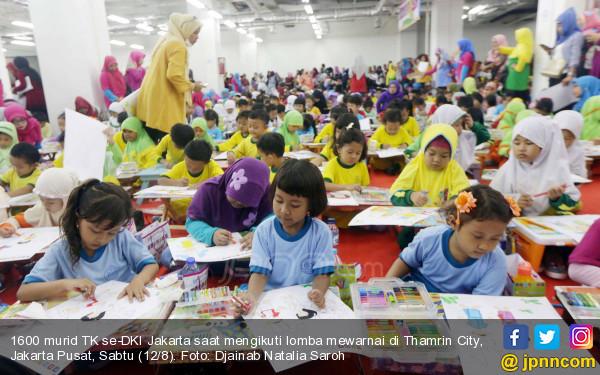 Standarpen Ajak 1600 Murid TK Mengenal Budaya Lewat Lomba Mewarnai   - JPNN.COM