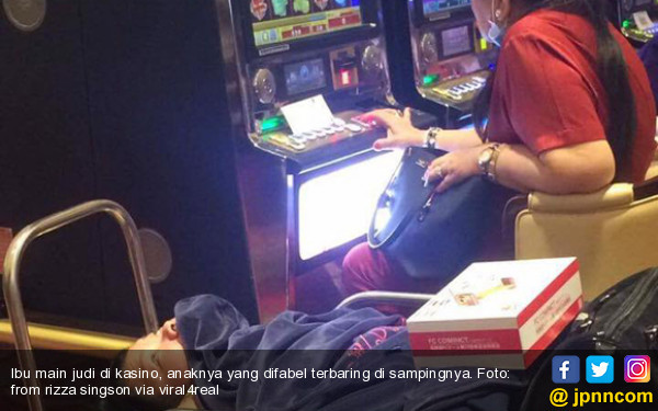 Ya Tuhan! Ibu Berjudi di Kasino, Anaknya yang Difabel Terbaring di Sampingnya - JPNN.COM