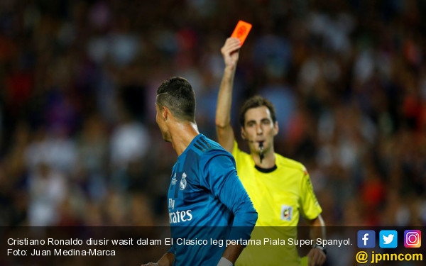 Kartu Merah di El Clasico, Ronaldo Terancam Hukuman 12 Pertandingan - JPNN.COM