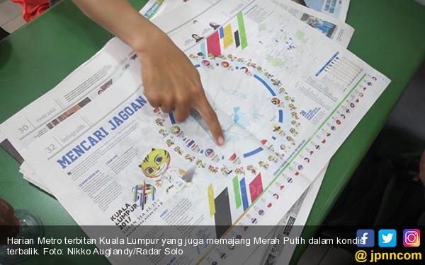Ya Ampun, Merah Putih Juga Terbalik di Koran Malaysia - JPNN.com