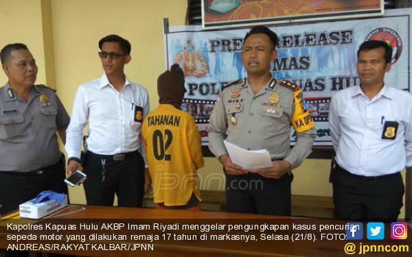 Remaja Nekat Mencuri Motor Pak Polisi - JPNN.com