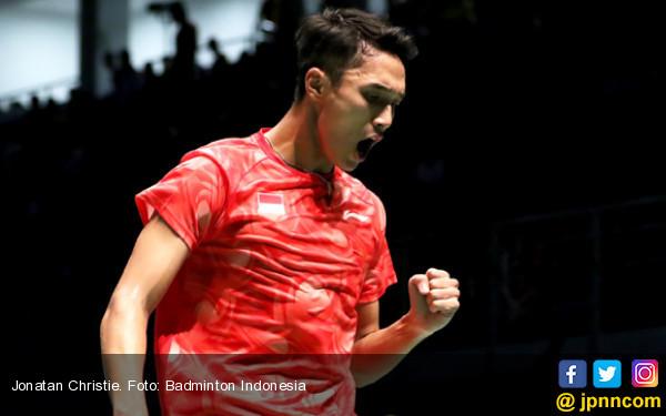 Luar Biasa! Jonatan Christie Pukul Lin Dan di China Open - JPNN.COM