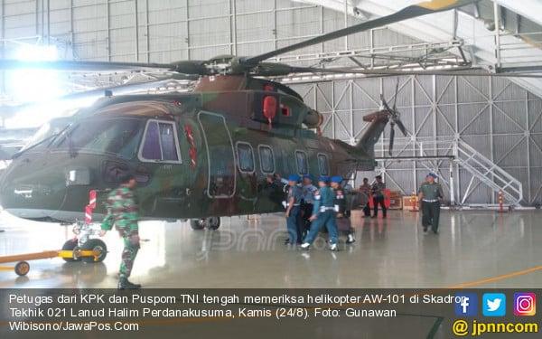 KPK, Puspom TNI dan Tim Independen Teliti Fisik Helikopter Berbau Rasuah - JPNN.COM