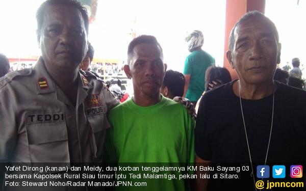 Korban Kapal Tenggelam Terombang-ambing di Laut 23 Jam, Makan Gabus Pelampung - JPNN.com