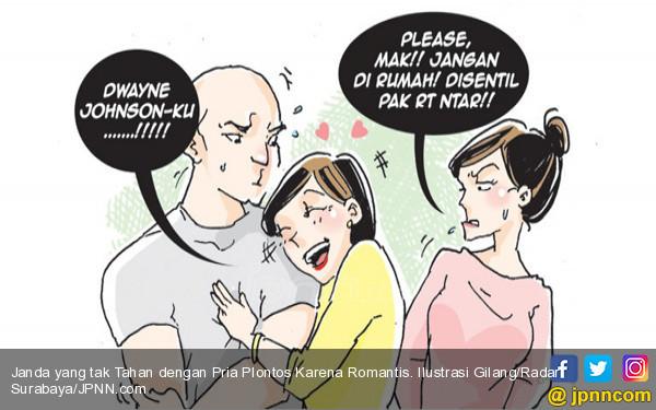 Janda yang tak Tahan dengan Pria Plontos Karena Romantis - JPNN.COM