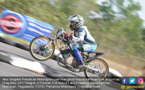 Dragster Pertamax Motorsport Drag Bike Team Terus Pimpin Klasemen - JPNN.COM