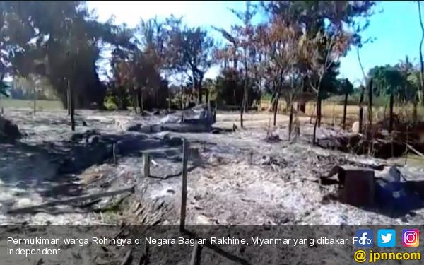 Militer Myanmar Bakar Ratusan Jasad Warga Rohingya demi Tutupi Bukti - JPNN.com