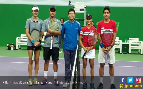 Rifki/Deria Hanya Raih Perunggu Cabor Tenis - JPNN.com