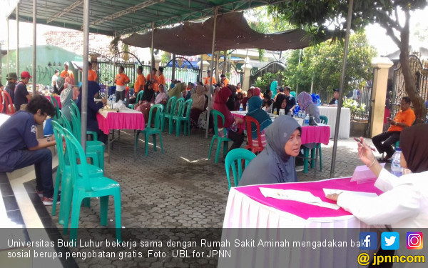Gandeng RS Aminah, Universitas Budi Luhur Gelar Bakti Sosial - JPNN.COM