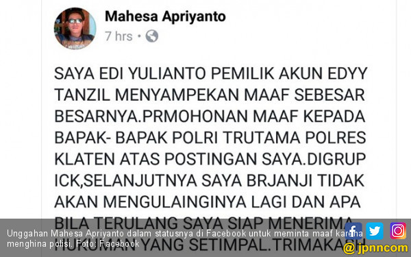 Hina Polisi di Facebook, Eddy Tanzil Dibekuk - JPNN.COM