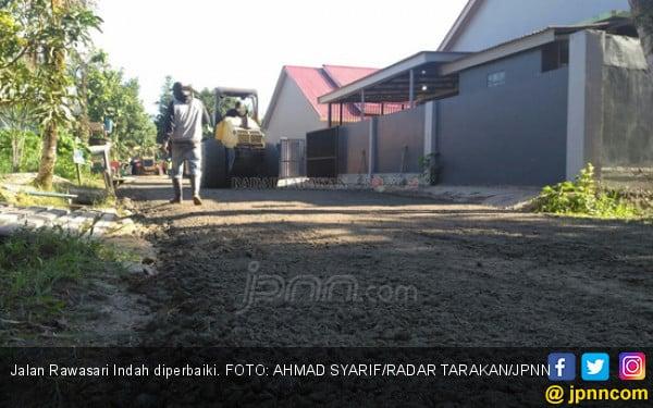 Berkah Kedatangan Jokowi, Jalan Langsung Mulus - JPNN.COM