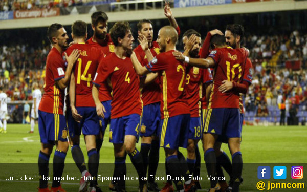 Spanyol jadi Negara ke-11 Lolos Piala Dunia 2018 ...