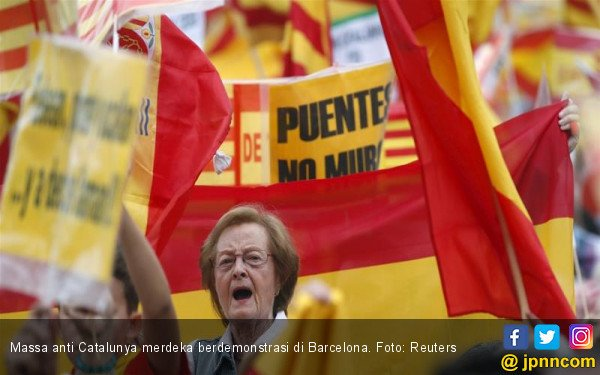 Demo Tandingan Catalunya Merdeka Mulai Muncul - JPNN.COM
