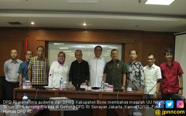 DPD RI Terima Delegasi DPRD Kabupaten Bone Membahas Pilkada - JPNN.COM