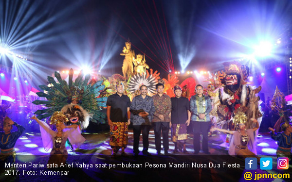 Menpar Arief Yahya Puji Pembukaan Pesona Nusa Dua Fiesta - JPNN.COM