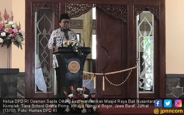 Oesman Sapta Apresiasi Pembangunan Masjid Bait Nusantara - JPNN.COM