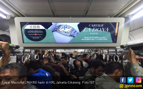 Penumpang KRL Jakarta-Cikarang Kini Bisa Nikmati Hiburan - JPNN.COM
