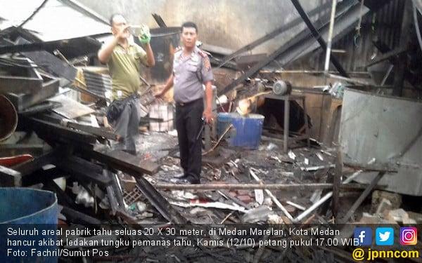 Pabrik Tahu Meledak, 1 Pekerja Tewas dengan Tubuh Terpisah - JPNN.COM