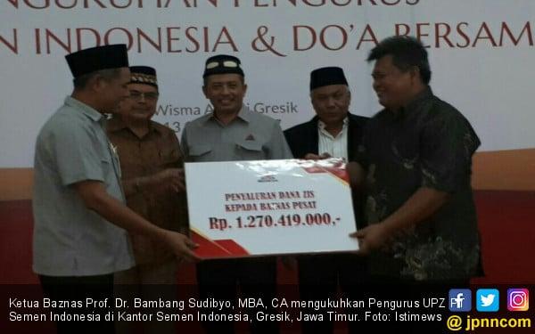 Jadi UPZ Baznas, Semen Indonesia Berzakat Rp 1,27 Miliar - JPNN.COM