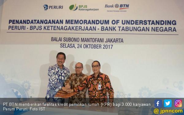 Peruri Gandeng BTN dan BPJS, Wujudkan Perumahan Karyawan - JPNN.com