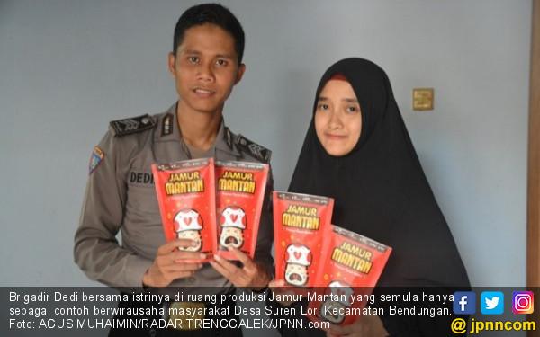 Brigadir Dedi, Polisi Ustaz Nyambi Pasarkan Jamur Mantan - JPNN.COM