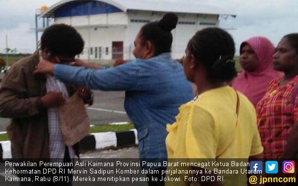 Cegat Ketua BK, Perempuan Asli Kaimana Titip Pesan ke Jokowi - JPNN.COM